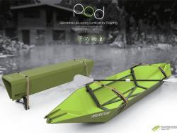 Унікальний винахід – лавка, яка перетворюється на рятувальний човен