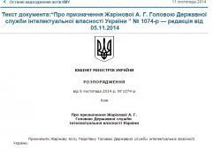 Назначен глава Государственной службы интеллектуальной собственности